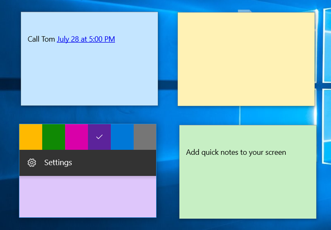 Sticky notes for Windows 10